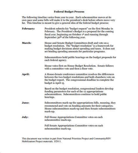 budget timeline template 6 budget timeline templates free word excel pdf