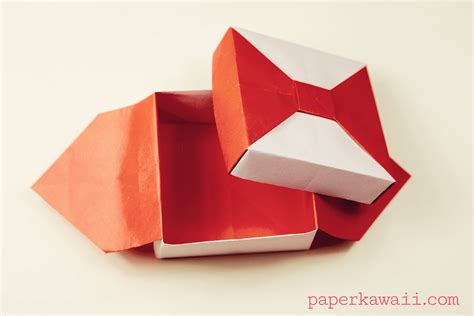 Japanese Origami Box - origami box with bow tutorial paper kawaii