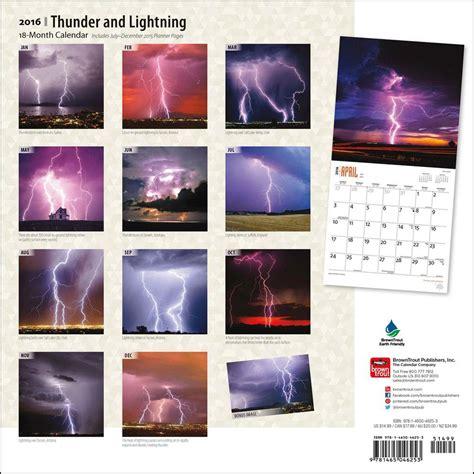 Lightning Calendar Thunder And Lightning 2016 Wall Calendar 9781465046253