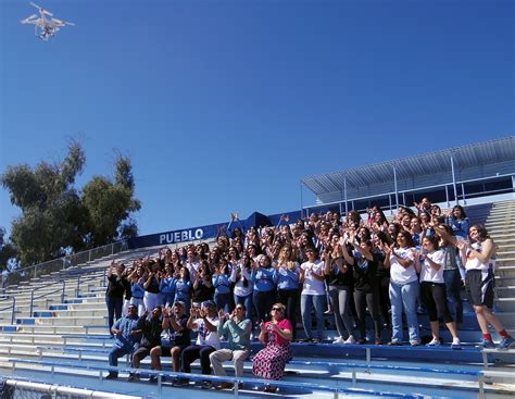 Drone Flyby look in the sky it s a bird it s a plane no it s our drone pueblo high school
