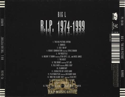 The Big by Big L The Big Picture Cd Rap Guide