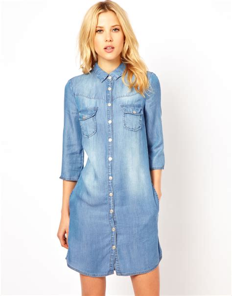 Denim Victoriaje Dress denim dress uk dress uk