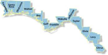 Map Of Florida Panhandle Beaches by Florida Coastal Access Guide Coastal Management Program
