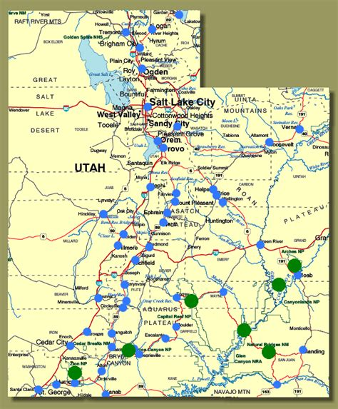 ut map map of towns in utah new york map