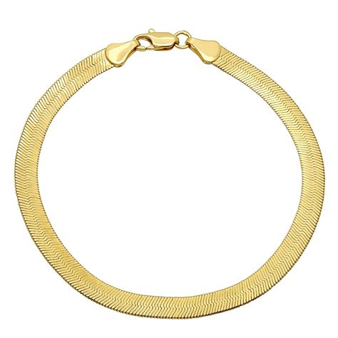 14k Gold Plated Mouse 4 5mm 14k gold plated herringbone chain ebay
