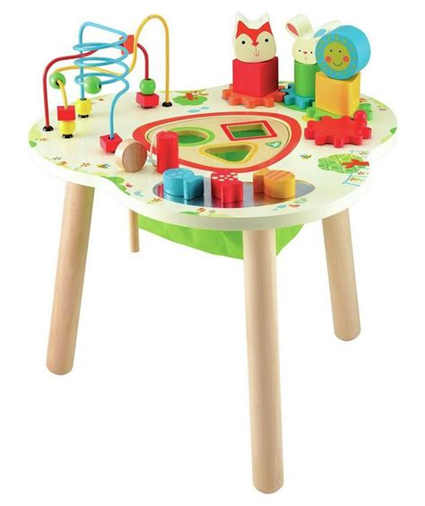 elc building activity table buy early learning centre wooden activity table at argos