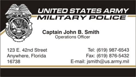 Free Business Card Template Us Army by Us Army Business Cards Templates Gallery Card Design And