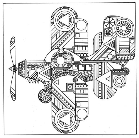 the yeti coloring book adults books airplane abstract coloring pages coloringsuite