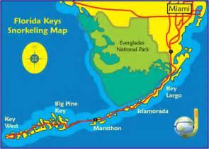 florida snorkeling map snorkeling in florida
