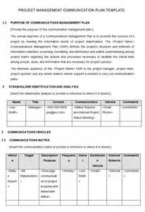 Communication Plan Template For Project Management project management communication plan template pictures to