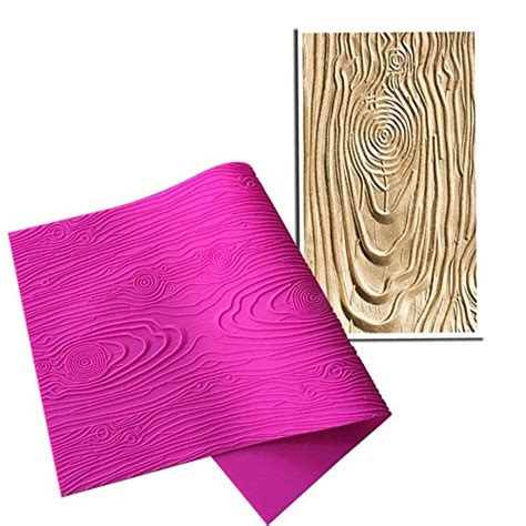 wood pattern on fondant art kitchenware woodgrain fondant impression mat silicone