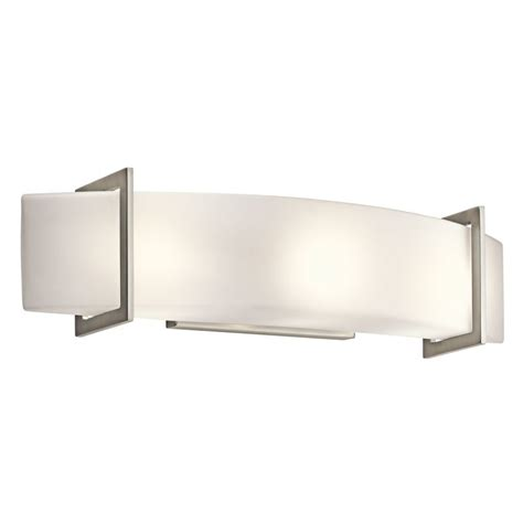modern bathroom light fixture kichler 45220ni brushed nickel crescent view 24 quot wide 3