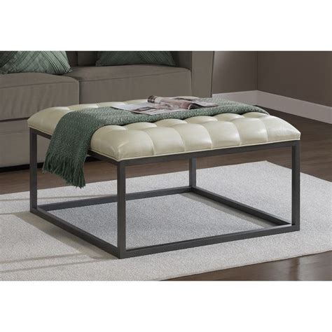 cream ottoman coffee table 17 best ideas about tufted leather ottoman on pinterest