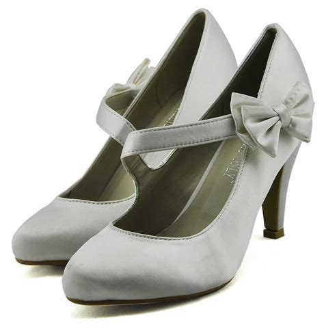 white satin shoes shoes lss00134 white satin court shoes