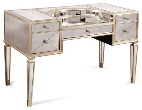 vanity desk bassett mirror 8311 579 borghese mirrored vanity desk contemporary bedroom makeup vanities