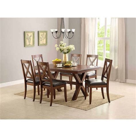 Better Homes And Gardens Kitchen Table Set Better Homes And Gardens Maddox 7 Dining Set Brown Walmart