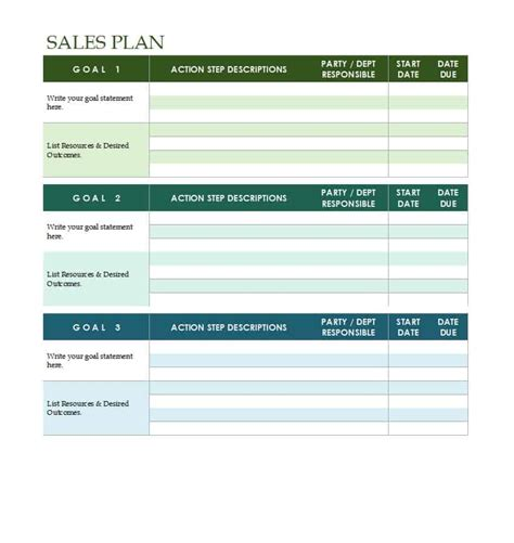 sales manager plan template 32 sales plan sales strategy templates word excel
