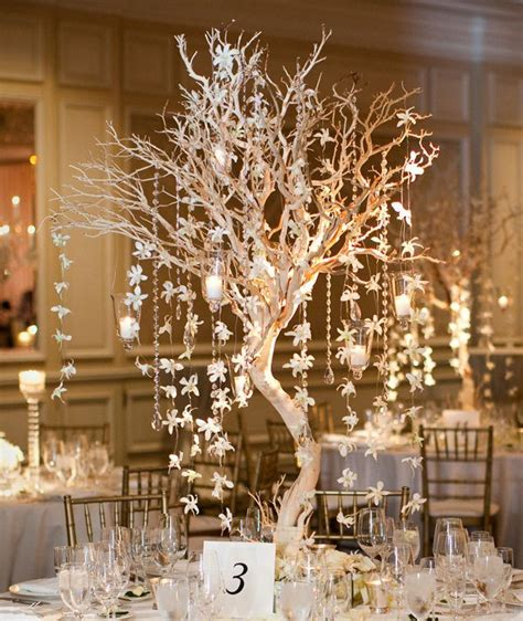 winter wedding tree centerpieces inspiring and creative ideas winter wedding decorations to