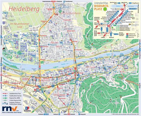 map heidelberg germany heidelberg tourist map