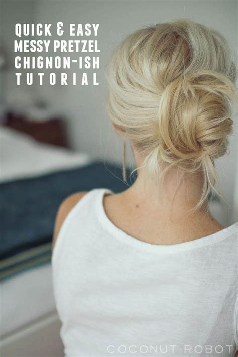 pennies messy bun tutorial 605 best hair tutorials images on pinterest