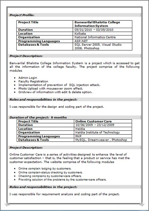 Resume Format Doc For Mca Resume Co Beautiful Resume Cv Of Mca Master Of Computer Application Hardware