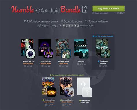 humble bundle android app humble bundle revient avec un tr 232 s beau pack de jeux compatibles pc et android frandroid