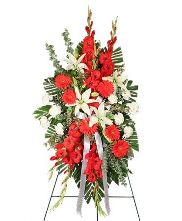 by special arrangement lagrange ga flower shop reverent red funeral flowers in lagrange ga by special