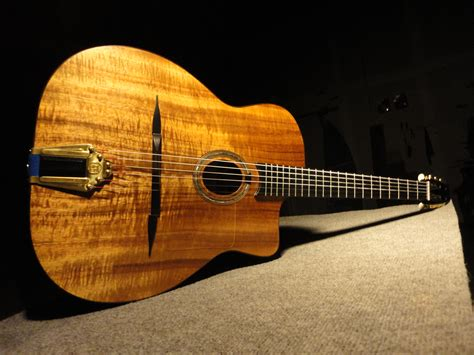 gypsy swing guitar iseman koa selmer petite bouche gypsy jazz guitar