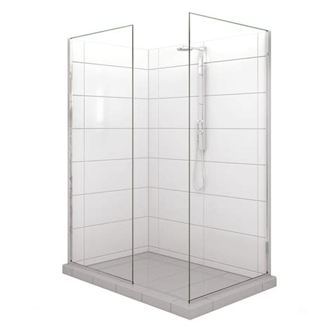 Selang Shower Steinlist stein embrace walk in 1500x 900mm shower door kit bunnings warehouse