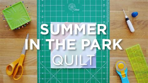 Summer In The Park Quilt by Quilt Snips Mini Tutorial Summer In The Park