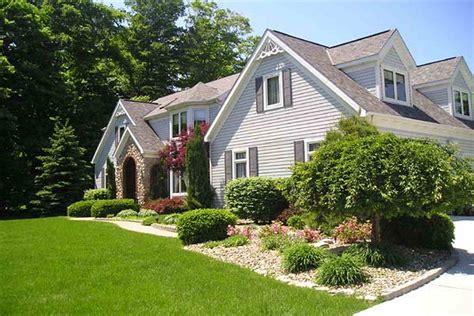 exterior landscaping garden design ideas front house home decor interior
