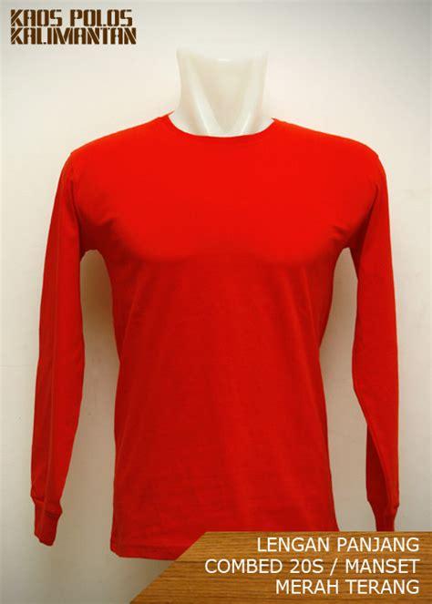Kaos Polos Lengan Panjang Cotton Combed Model A21 grosir kaos polos kalimantan di balikpapan lengan panjang