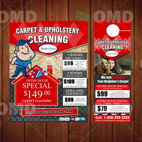 Door Knob Advertising Flyers by Carpet Cleaning Marketing Bundle We Print Ship 2 You Flyers Door Hangers Professional