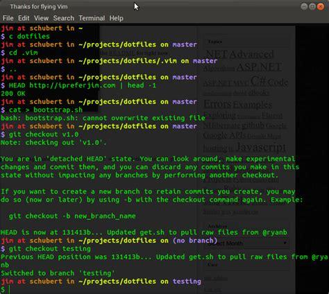 bash color scheme dotfiles backup using github i prefer jim