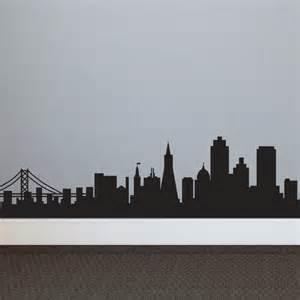 san francisco skyline silhouette san francisco sf city skyline silhouette vinyl wall