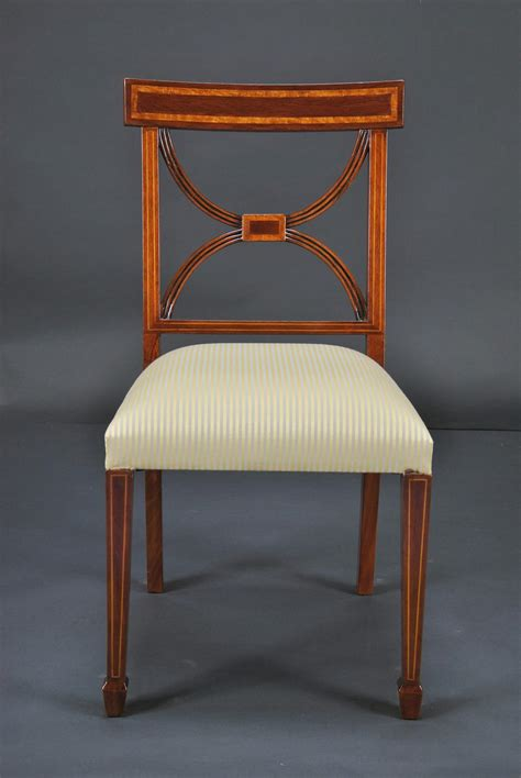 Strong Dining Room Chairs Cross Back Dining Room Chairs Banded Satinwood On Solid Mahogany 3 Arm Chairs Ebay