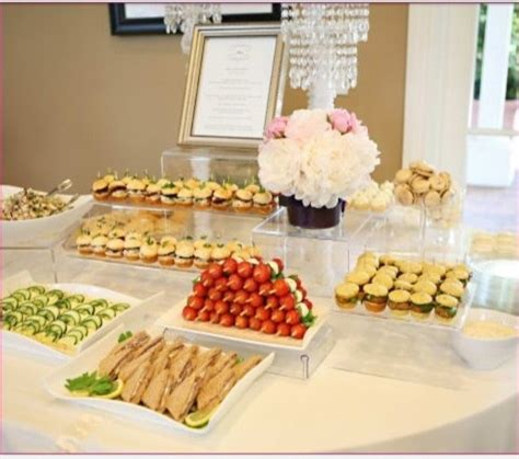 Food For Bridal Shower by Bridal Shower Food Display Bridal Shower
