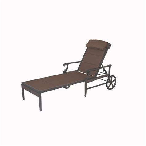 Patio Chaise Lounge Chair Shop Garden Treasures Herrington Chaise Lounge Patio Chair At Lowes