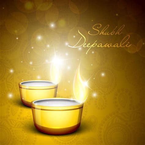 Happy Diwali Card Templates by Vector Happy Diwali Celebration Glowing Diya On
