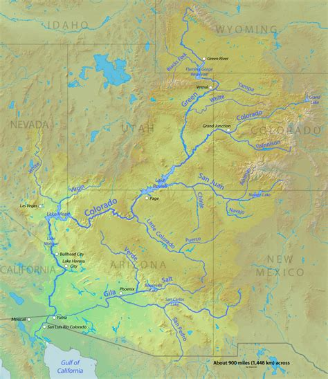 map grand colorado river citizens of a watershed the colorado river compact and