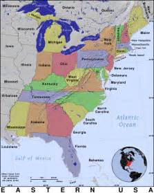 Map Of The East Coast United States by East Coast United States Map