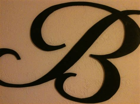 letter b typography cut wood letter b 24 quot any letter a z any font script vintage style cottage
