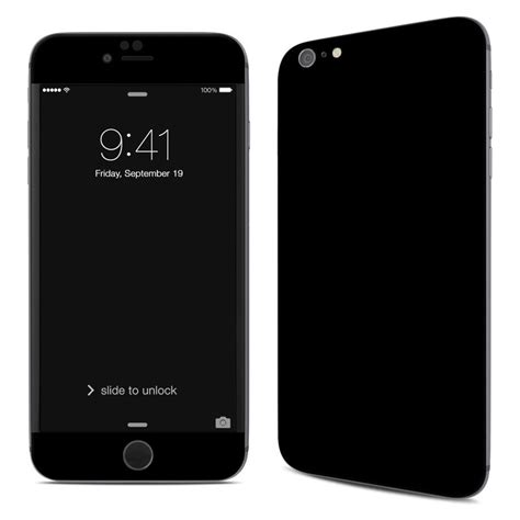 Back Iphone 6 Plus apple iphone 6 plus skin solid state black by solid