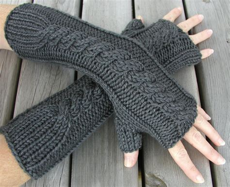 Knitting Pattern Gloves Fingerless | how to knit fingerless gloves youtube
