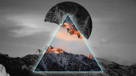 geometric mountains  wallpapers hd wallpapers id