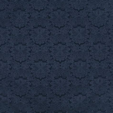 Navy Blue Upholstery Fabric by Navy Blue Floral Damask Upholstery Fabric