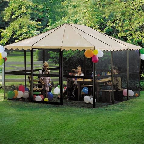 screen house gazebo portable screen room gazebo gazeboss net ideas