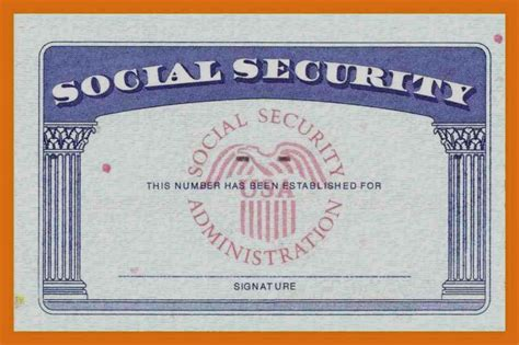print social security card template of blank social security card template print