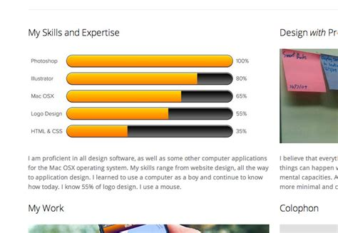 skills portfolio template the worst portfolio webdesigner depot