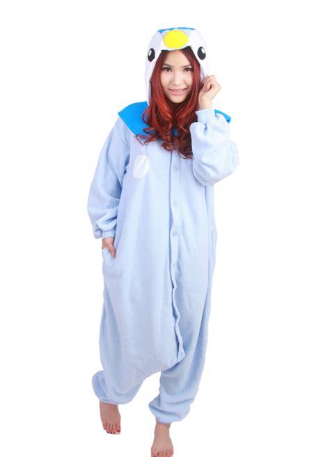 anime blue penguin piplup hooded pajamas